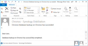 Database Backup Email