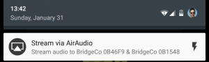 AirAudio Menu