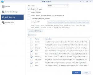 WebStation Composer Option